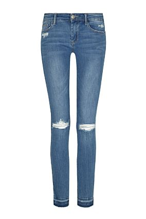 Side Stripe Destroyed Jeans