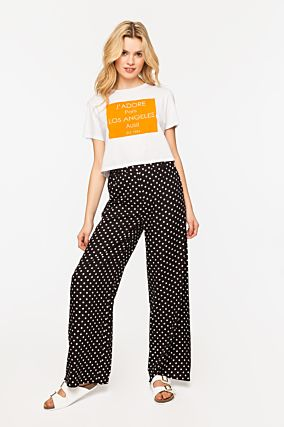 Wide Leg Polka Dot Trousers