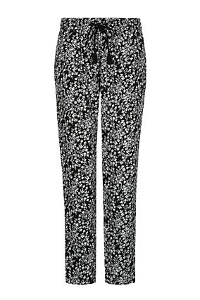 Black & White Floral Trousers
