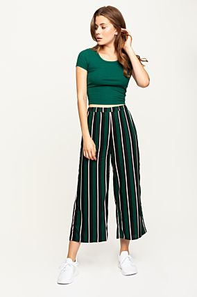 Green Striped Trousers