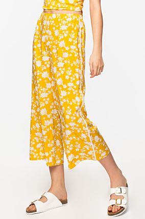 Yellow Cropped Trousers