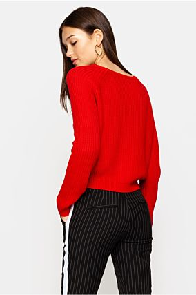 Pull Tricot Rouge