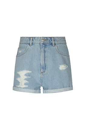 Hellblaue Denim Shorts