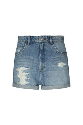 Blaue Denim Shorts