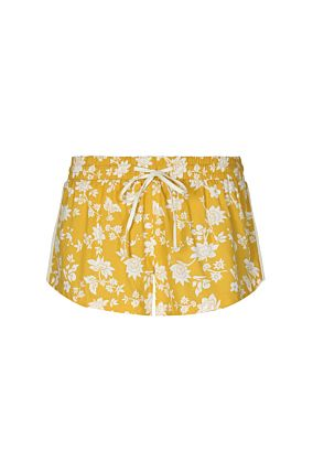 Yellow Side Stripes Shorts