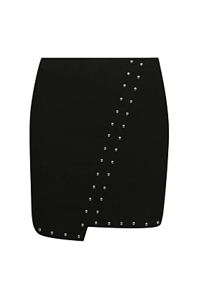 Black Studded Skirt