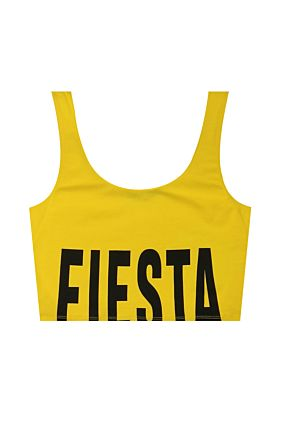 "Yellow ""Fiesta"" Crop Top"