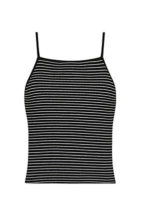 Black Striped Tank Top