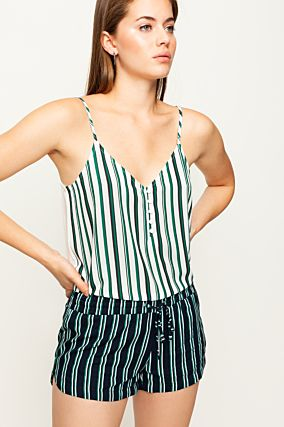 Green Button Front Cami