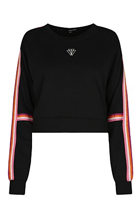 Black Side Stripe Sweatshirt