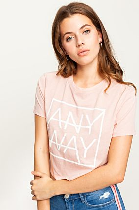 "Pink ""Anyway"" Crop Top"