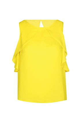Yellow Sleeveless Top
