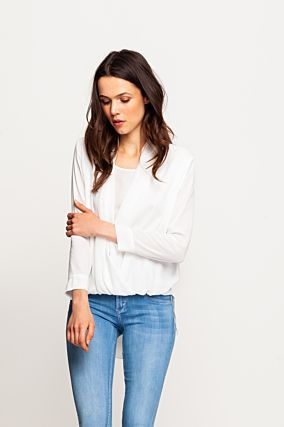 White Wrap Top