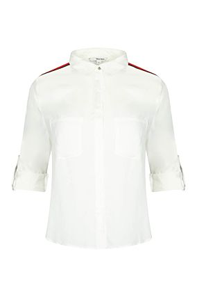 White Side Stripe Shirt