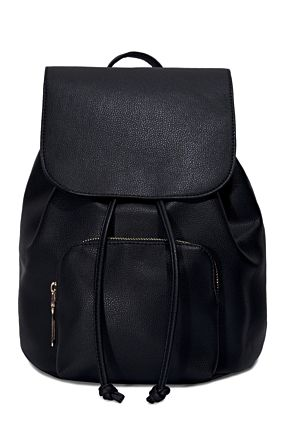 Black Backpack with Pocket