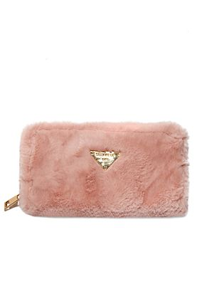 Pink Faux Fur Purse