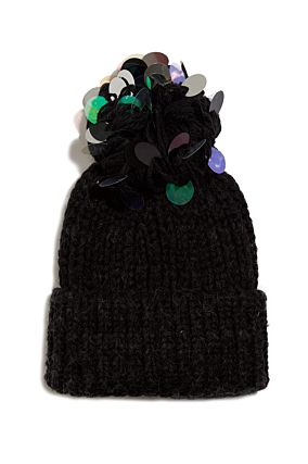 Chenille Beanie with Sequins