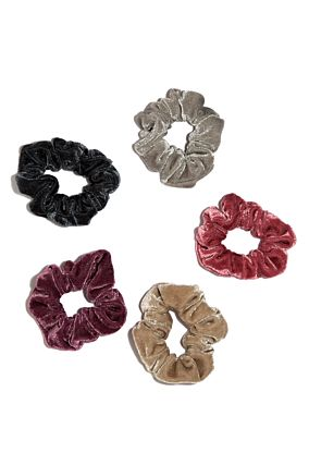 5 Velvet Hair Scrunchies