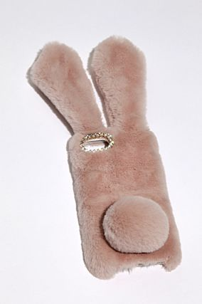 Pink Fluffy Bunny iPhone 6/7 Cover