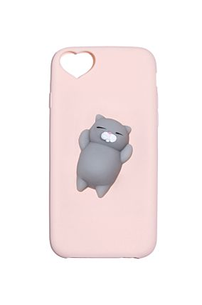 Coque Chat Silicone Rose