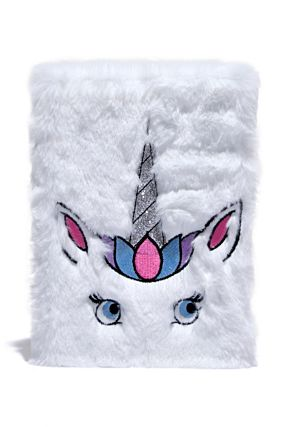 Unicorn Notebook with Faux Fur