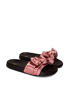 Pink Sliders with Bow