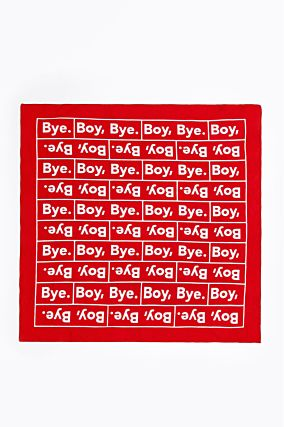Red Slogan Bandana