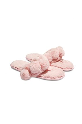 Pink Thong Slippers with Pompom