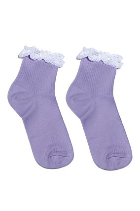 Purple Socks with Lace