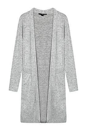 Cardigan Long Gris Clair