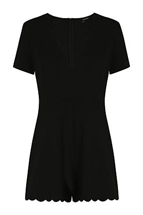 Black Scallop Playsuit