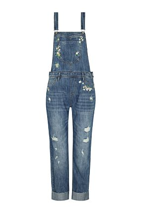 Denim Dungaree with Embroideries