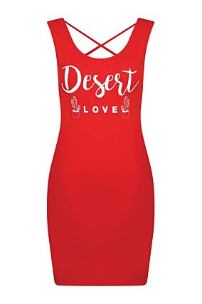 Red Bodycon Dress with Open Back