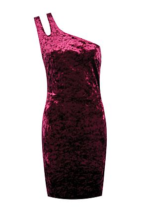 Red Velvet Bodycon Dress