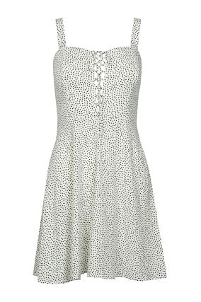 White Polka Dot Skater Dress