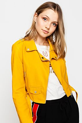 Yellow Biker Jacket