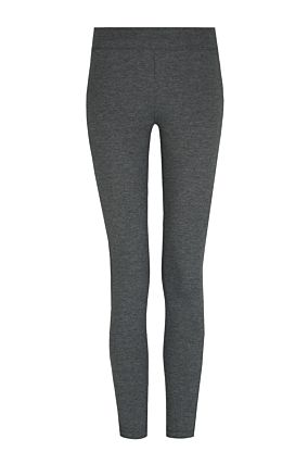 Grey Leggings with Yellow Side Stripe