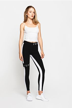 Black Leggings with Slogan