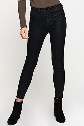 Black Push-Up High Waist Trousers