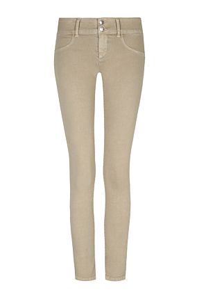 Beige Low Waist Trousers