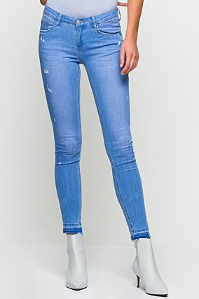 Low Waist Light Blue Jeans