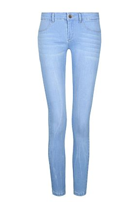 Light Blue Low Waist Push-Up Jeans