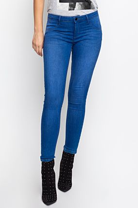 Blaue Push-Up Low-Waist Jeans