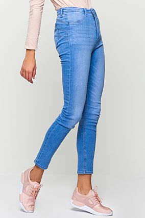 Blue High-Waist Push-Up Jeans