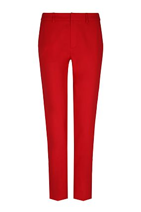 Red Chino Trousers with Side Stripes