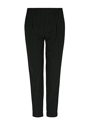 Black Pinstripe Trousers