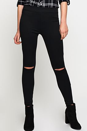 Pantaloni Jeggings Neri