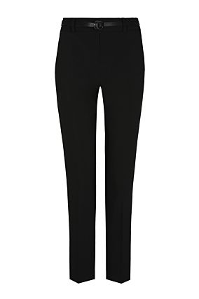 Black Cigarette Trousers with Belt