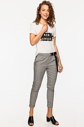 Grey Trousers with Belt