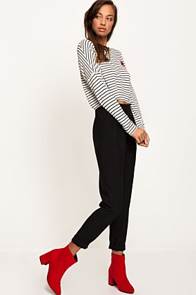 Black High Waist Trousers